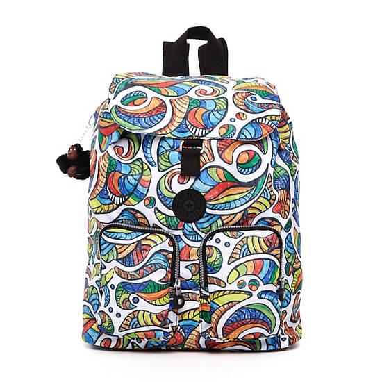 Raychel Print Backpack,Rustic Plaid,large