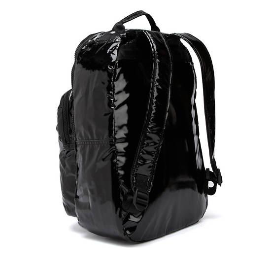 Seoul Large Patent Laptop Backpack,Black Patent,large
