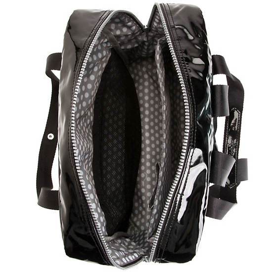 Salee Backpack,Black Patent,large