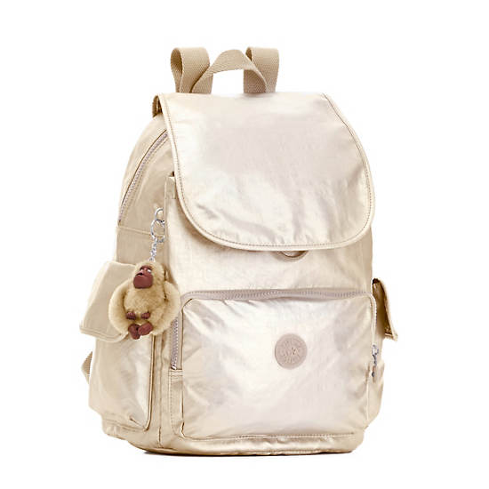 Ravier Medium Backpack,Sparkly Gold,large