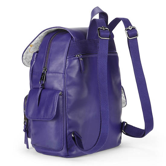 CITY PACK LEATHER BACKPACK,Blue Skies,large