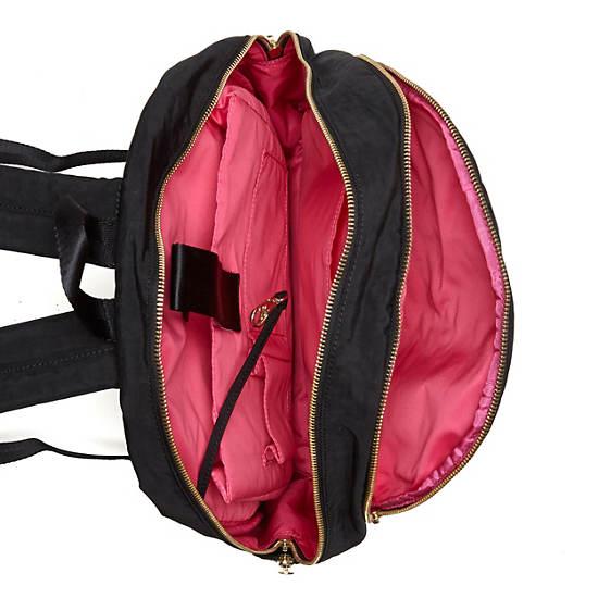 Deeda Large Laptop Backpack,Black Patent Combo,large