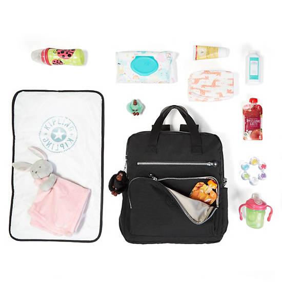 Audrie Backpack Diaper Bag,Black,large