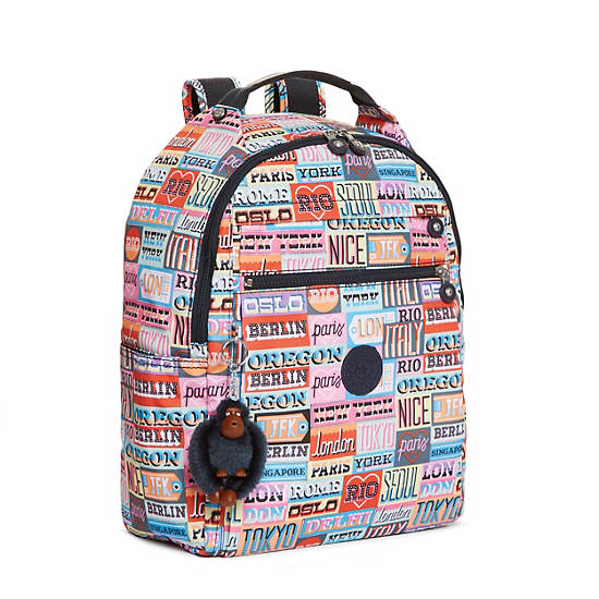 Micah Printed Medium Laptop Backpack,Hello Weekend,large