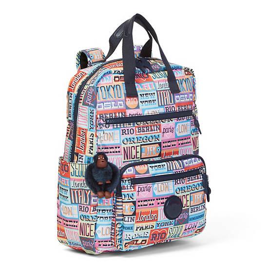 Sharpay Medium Printed Laptop Backpack,Hello Weekend,large