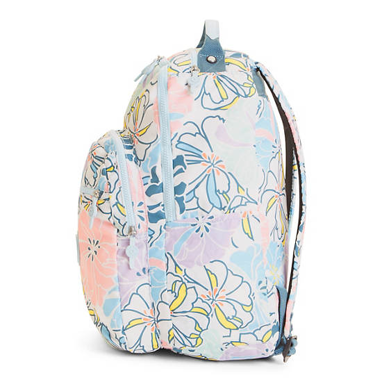 Seoul Large Printed Laptop Backpack,Hello Spring,large