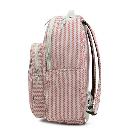 Seoul Large Printed Laptop Backpack,Zest Pink,large
