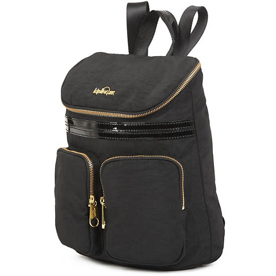 Carter Small Backpack,Black Patent Combo,large