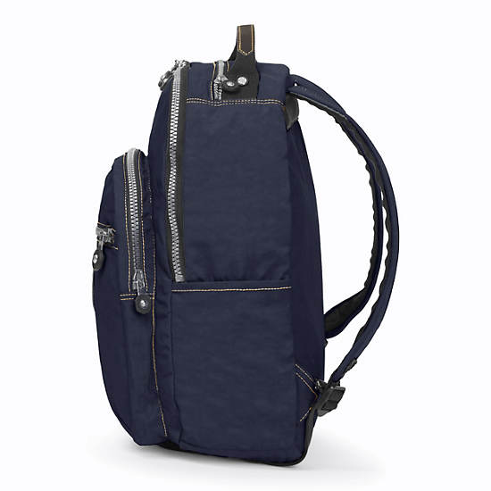 Seoul Large Vintage Laptop Backpack,True Blue,large