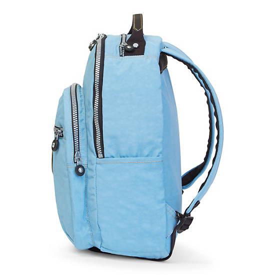 Seoul Large Vintage Laptop Backpack,Blue Grey,large