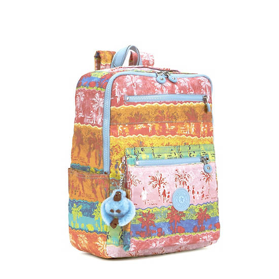 Caity Medium Printed Backpack,Fun in the Sun,large