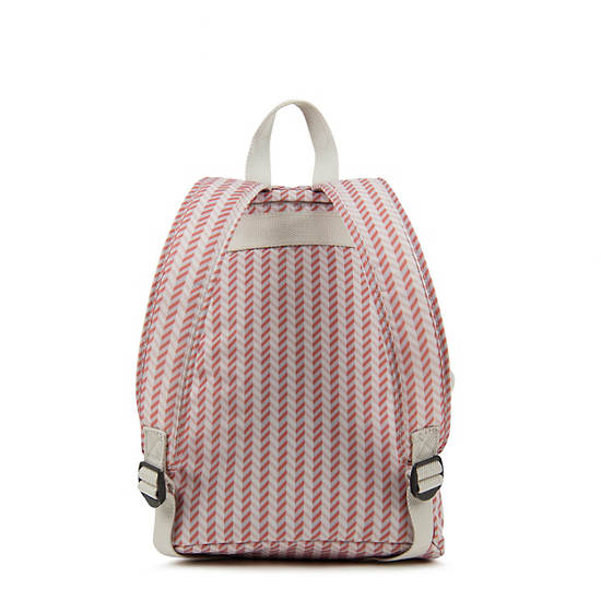 Dawson Small Printed Backpack,Zest Pink,large