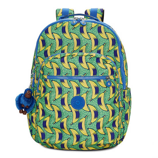Seoul Extra Large Printed Laptop Backpack,Early Dawn,large