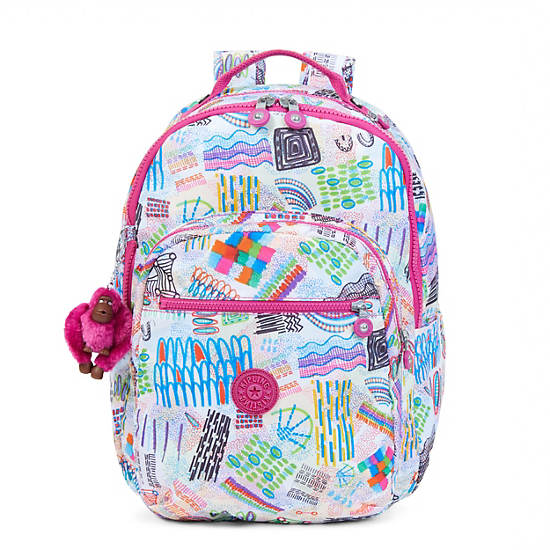 Seoul Large Printed Laptop Backpack,Rio Vine,large