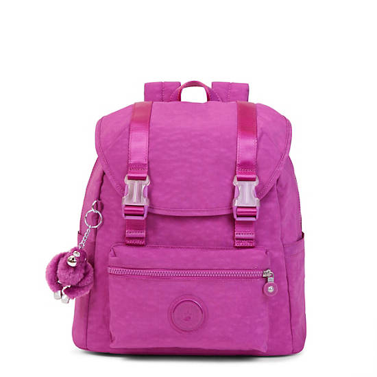 Siggy Small Backpack,Purple Garden,large