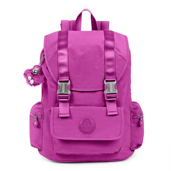 Siggy Large Laptop Backpack,Purple Garden,large