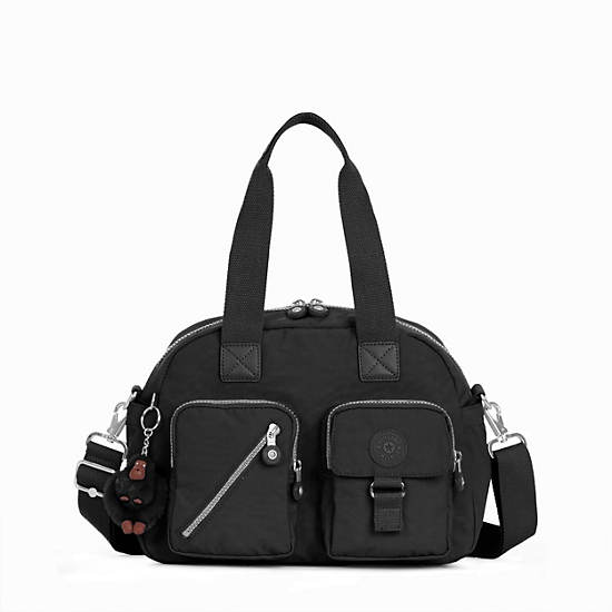 Defea Handbag,Black,large