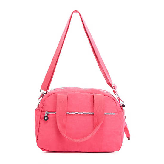Defea Handbag,Vibrant Pink,large