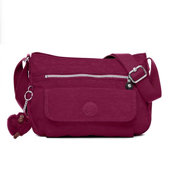 Syro Crossbody Bag,Deep Red,large