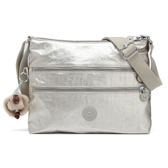 Alvar Crossbody Bag,Silver Beige,large