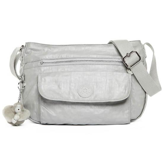 Syro Crossbody Bag,Pearlized Ash Grey,large