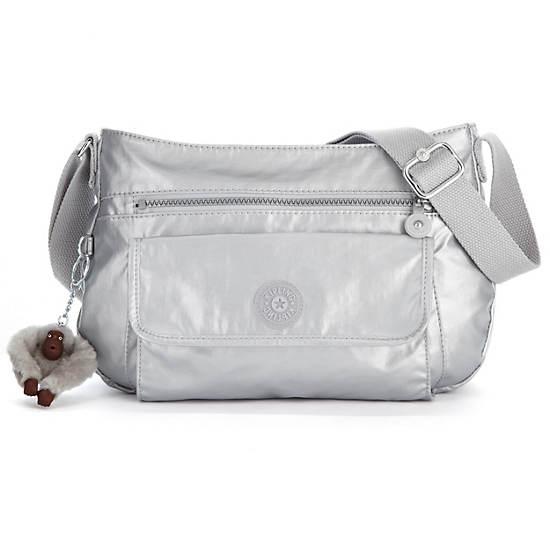 Syro Crossbody Bag,Silver Metallic,large
