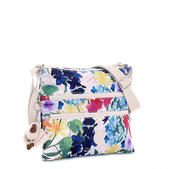 Alvar Printed Crossbody Bag,Flower Power,large