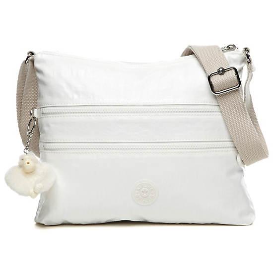 Alvar Crossbody Bag,Pearlized White,large