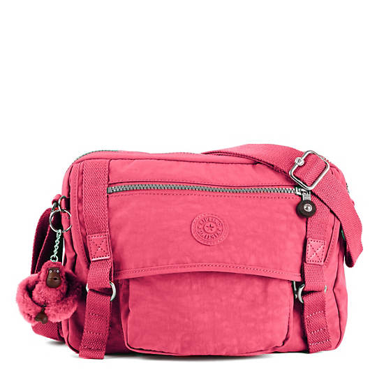 Gracy Crossbody Bag,Vibrant Pink,large