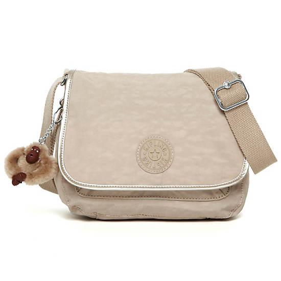 Maceio Crossbody Bag,Cafelate Metallic Trim,large