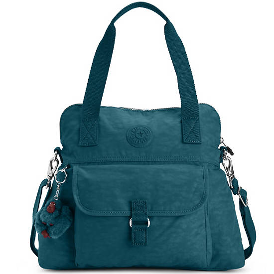 Pahneiro Handbag,Emerald Green,large