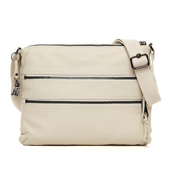 Alvar Leather Crossbody Bag,Alabaster Happy Friday Combo,large