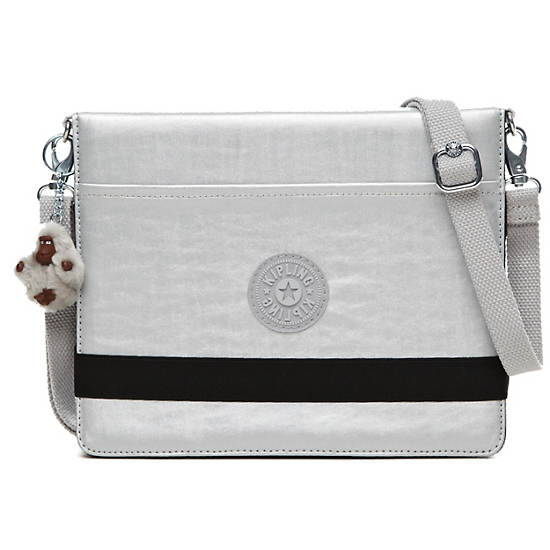 NEW DIGI TOUCH BAG,Silver Metallic,large