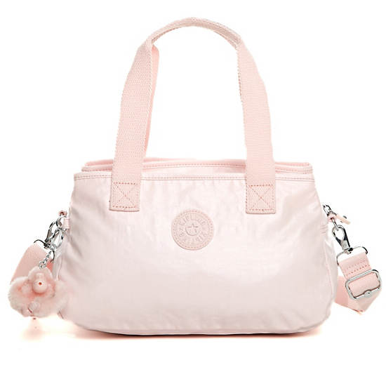Willow Coated Handbag,Pearlized Sweet Pink,large