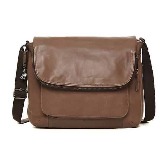 Garan Leather Handbag,Mink Brown,large