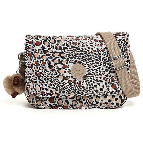Louiza Print Crossbody Bag,Leopard Prin,large