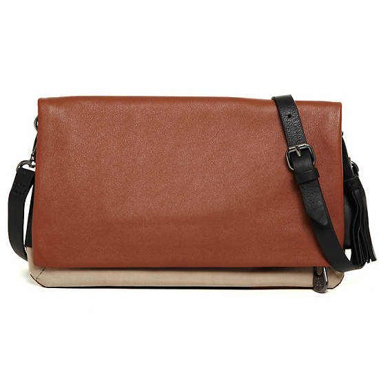 Helena Leather Clutch,Helena Brown P,large