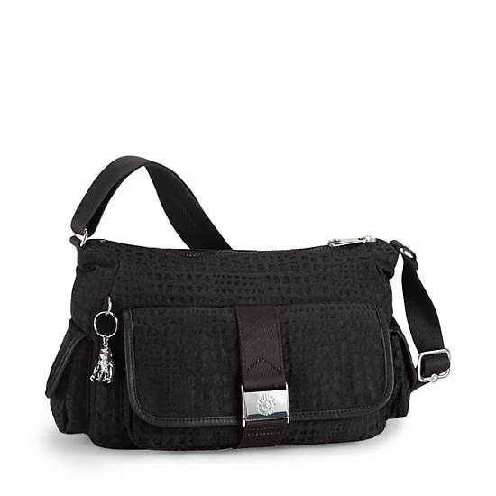 Priska Handbag,Black Pink Sherbert Combo,large