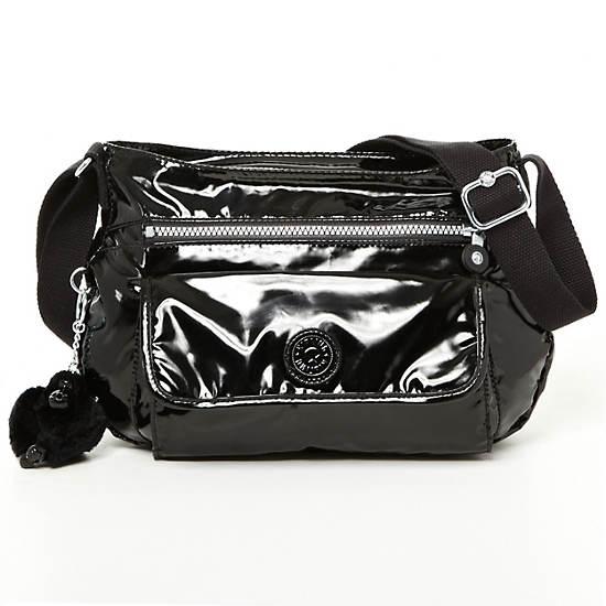 Syro Crossbody Bag,Black Patent,large