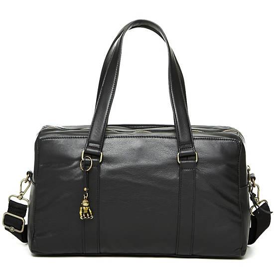 Yeri Leather Handbag,Black,large