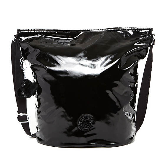 Mimmie Tote,Black Patent,large