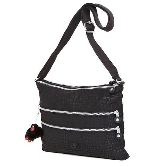 Alvar Crossbody Bag,Black Pink Sherbert Combo,large