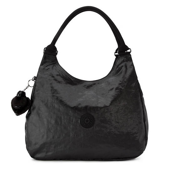 Bagsational Handbag,Lacquer Black,large