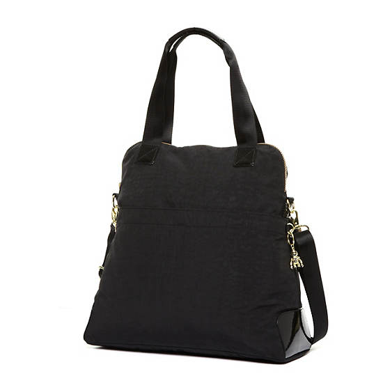 Maddie Handbag,Black Gold Mix,large