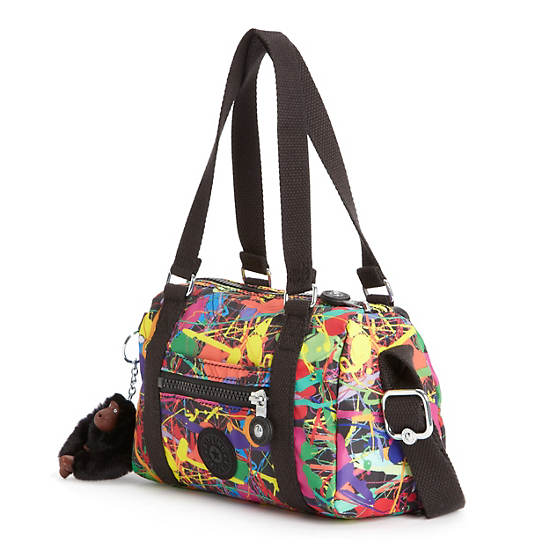 RYDER SMALL PRINTED HANDBAG,Art Party,large