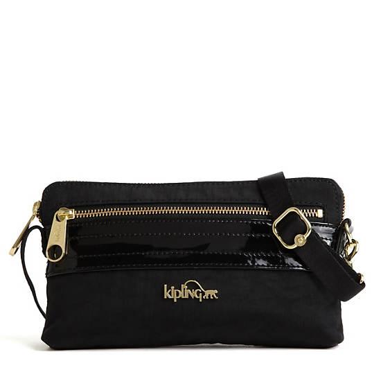 Iani Crossbody Bag,Black Patent Combo,large