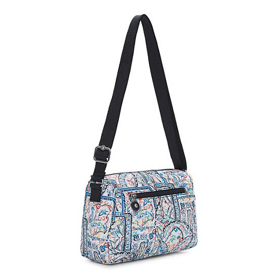 Wes Printed Crossbody Bag,Lovely Day Print,large