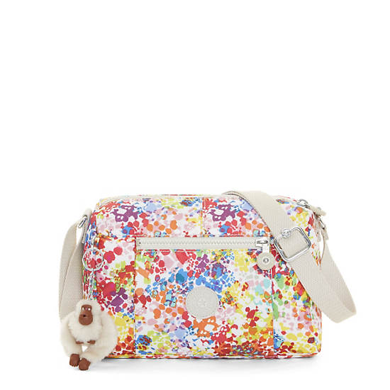 Wes Printed Crossbody Bag,Color Burst Bright,large