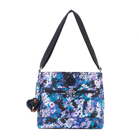 Michelle Printed Handbag,Fall Flowers,large