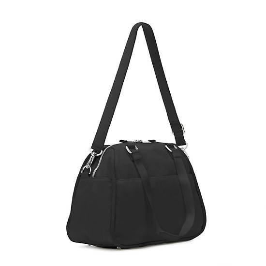 Kirsten Handbag,Black Nylon Twill,large